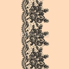 Vertical Seamless Pattern Black Lace by vikpit74, Royalty free vectors #55359529 on Fotolia.com
