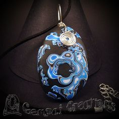 Polymerclay Blue Flower Necklace by Gempai-Creations on DeviantArt Handmade Jewelry, Etsy Handmade, Handmade Gifts, Blue Gift, Handmade Polymer Clay, Something Blue, Sell On Etsy, Flower Necklace, Decoration