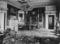 "The Yellow Drawing-Room in the Anichkov Palace in the 1880-1890s. ""AL"""