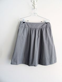 Womens J. Crew Gray Cotton Taffeta Belle Full Skirt Size 6 #JCREW #FullSkirt #graySkirt #summerSkirt