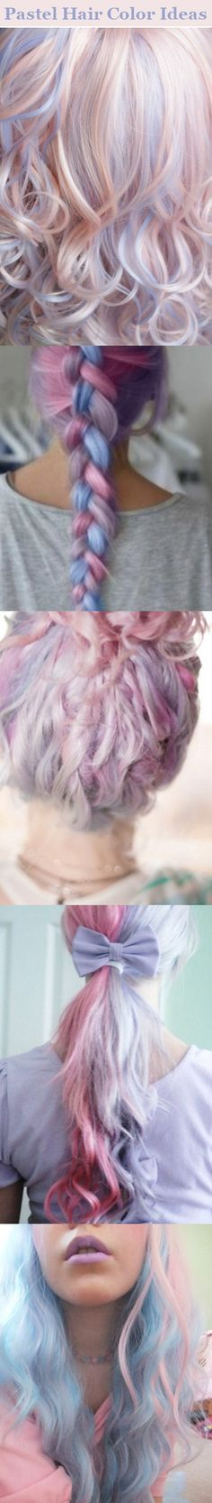 Pastel Hair Color Ideas-- I wish I could pull this off!!