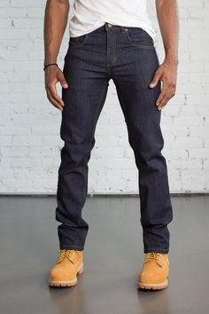 Slim Fit Dark Wash is part of Slim fit men - Slim Fit accentuates a slender physique Comfortable and fits just rightall day Denim Jeans, Denim Jacket Men, Men Shorts, Denim Jackets, Timberland Boots Outfit, Timberlands, Sperrys Men, New Balace, Buy Jeans Online