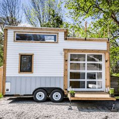 The Ptarmigan: a modern cabin on wheels, from Rewild Tiny Homes of Nanaimo, British Columbia.