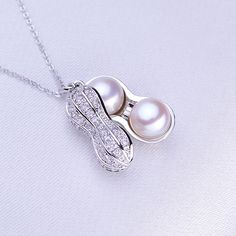 Veeka natural cultured freshwater pearl beads necklaces pendants 925 sterling silver chain necklace women new fashion gift