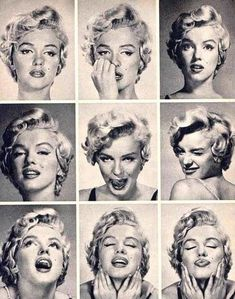black and white collage of Marilyn Monroe