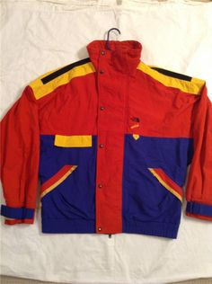 Vintage North Face Multicolor Anorak SKI Extreme Tech Vertical 80'S Jacket USA M | eBay