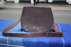 SALE Chocolate Saddle Messenger Bag / Free von Leatherfinerwork