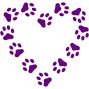 The design Paw Print Heart pawprint dog, cat was created by Billionaire and uploaded to Spreadshirt for you to have printed on a T-Shirt. Description from spreadshirt.com.au. I searched for this on bing.com/images