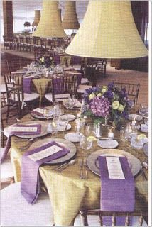 Lavendar/Gold Table Setting