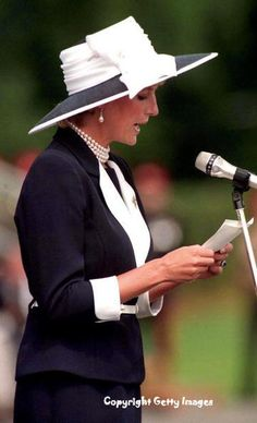 July 22, 1995: Diana, Princess of Wales reviews the honour guards before presenting the new colours to the Light Dragoons, the regiment of which she is Colonel-in-Chief, in Bergen, northern Germany. The Light Dragoons are part of the 23,000 strong 1st Armoured Brigade.