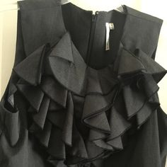 All business! Wear this classic business dress to the office. Ruffles in the front. Plus size 16 Dresses