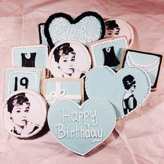 flourchildbakeshop.com | Audrey Hepburn Breakfast at Tiffany's cookies