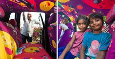 This 75-Year-Old Taxi Driver Helps People In Emergencies, So We Decided To Give His Cab The Design Treatment   Bored Panda
