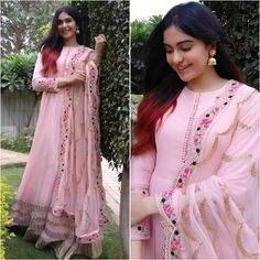 Excited to share this item from my shop: VeroniQ Trends-Bollywood Star Ada Khan Pink Anarkali Dress with Embroidery in Georgette-Salwar suitPartyFunctionGown dressIndiaPakistan Bollywood Stars, Bollywood Fashion, Bollywood Dress, Kurta Designs, Blouse Designs, Indian Wedding Outfits, Indian Outfits, Designer Salwar Suits, Designer Dresses