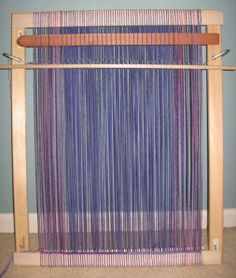 01/19/09 post has instructions for building a real loom from simple materials. I've been wanting to weave lately. I'll have to see if I can get my hubby to make me one!