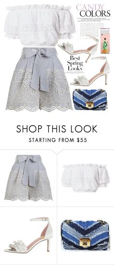 """""""FSJ sandals in summer look"""" by fsjamazon ❤ liked on Polyvore featuring H&M, Zimmermann, LoveShackFancy, The Casery, Summer, Heels and sandals"""