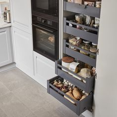 GoodHome Soto Internal drawer front - B&Q for all your home and garden supplies and advice on all the latest DIY trends Kitchen Pantry Design, Small Kitchen Organization, Modern Kitchen Design, Home Decor Kitchen, Kitchen Layout, Interior Design Kitchen, Home Kitchens, Kitchen Furniture, Kitchen Storage