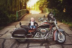 Baby on a motorcycle Photo copyright Rachel Vanoven Photography edited with Oh So Posh Photography actions