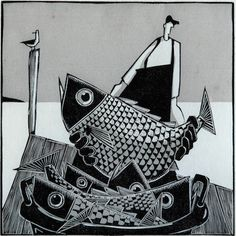 Horace II, Woodcut - By David Witbeck
