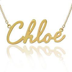 Would love this for my name - Personalized Name Necklace Order Any Name  by KetiSorelyDesigns, $35.00