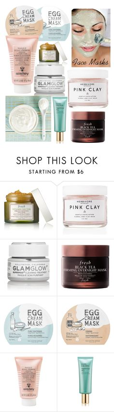 """Face Masks"" by krististokes ❤ liked on Polyvore featuring beauty, Fresh, Herbivore, GlamGlow, too cool for school, Sisley Paris, Estée Lauder and facemasks"