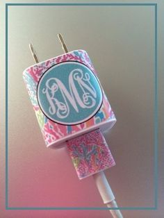 OK, I think Monograms need some rules! A phone charger, seriously?