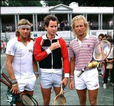 Björn Borg, John McEnroe et Vitas Gerulaitis 1982