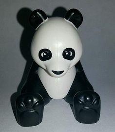 Lego Duplo White Black Panda Bear Replacement Figure Piece