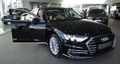 Audi General Manager shows his love for the All-New Audi in Audi Waterford. Audi A8, Showroom, Pictures, Photos, Fashion Showroom, Resim, Clip Art