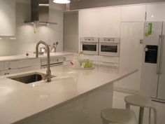 Like this high gloss white Abstrakt Kitchen at Ikea that we saw today.