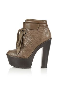 ALOUD Heavy Sole Heeled Boots Topshop