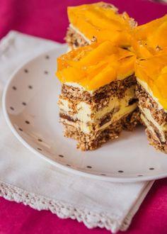 Ciasto Kora Orzechowa Polish Recipes, Polish Food, Cake & Co, Pastry Cake, Pastry Recipes, Sweet Tooth, Cheesecake, Kuchen, Patisserie Cake