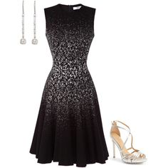 Untitled #2423 by injie-anis on Polyvore featuring moda, Prabal Gurung, Badgley Mischka and Maria Canale