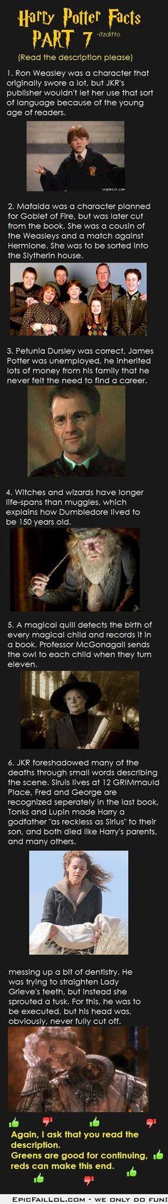 Harry Potter Facts Part 7