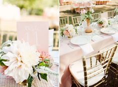 Gorgeous pink wedding decor