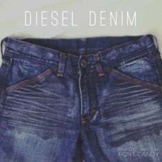 """Diesel bootcut Denim Denim Jeans in good condition!  Wear on bottom hemline. Oil-stained design on front pockets.  Materials: 100% Cotton  Length 28""""  Waist 26""""  Ships within 24 hours and free shipping! Diesel Jeans"""