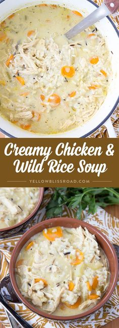 Creamy Chicken and Wild Rice Soup - Comfort food that perfectly rich and…