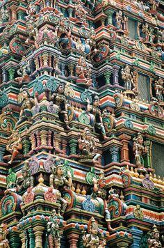 Beautiful ornate Hindu temple in Bangkok, Thailand | (via earthportals.com)