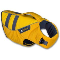 A must have if your pooch keeps you company paddling. Ruffwear K-9 Float Coat.