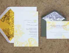 Yellow Floral Wedding Stationery