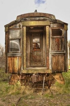 Abandoned train car