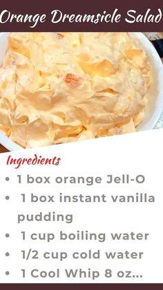 Jello Dessert Recipes, Dessert Salads, Fruit Salad Recipes, Jello Salads, Fruit Salads, Dessert Ideas, Fluff Desserts, Easy Desserts, Delicious Desserts