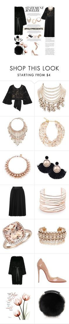 """""""#PolyPresents: Statement Jewelry"""" by amimcqueen ❤ liked on Polyvore featuring Johanna Ortiz, Rosantica, Kenneth Jay Lane, Ellen Conde, Astraet, Alexis Bittar, Blue Nile, Marchesa, Nili Lotan and Christian Louboutin"""