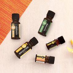 PURE launches 3 new oils: Ginger, Thyme & Dill. Plus 2 new blends: Brighten—Joy Blend & Endless Summer Blend.