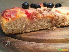 Pizza altissima con lievito di birra e biga  #ricette #food #recipes