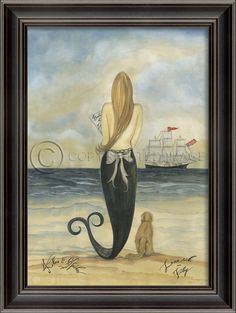 Lovesick on Fridays - Mermaid Art Large | #coastal #Mermaid