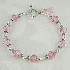 Swarovski Breast Cancer Bracelet