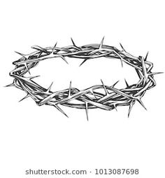 corona de espinas crown of thorns, easter religious symbol of Christianity hand drawn vector illustration sketch logo drawings sketch Dorn Tattoo, Small Tattoos, Tattoos For Guys, Jesus Crown, Crown Drawing, Easter Religious, Christian Symbols, Jesus Art, Religious Symbols