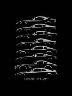Front-engine Sports Car SilhouetteHistory Silhouettes of sports cars from the last ten years with front-engine, including Alfa Romeo 8C Competizione, Aston Martin V8 Vantage, Chevrolet Corvette C7, SRT Viper, Jaguar F-Type, Lexus LFA, Mercedes AMG...