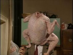 Mr. Bean turkey head! (I've seen this episode about 10 times and I still laugh until I can't breathe every time.)